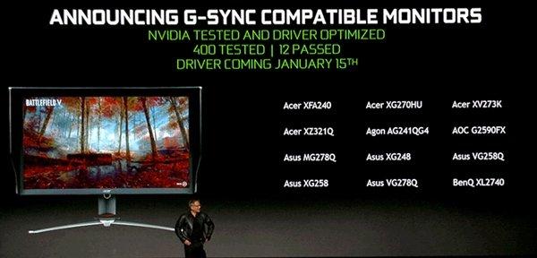 官宣!NVIDIA彻底放开:为所有Freesync显示器全解禁支持G-Sync