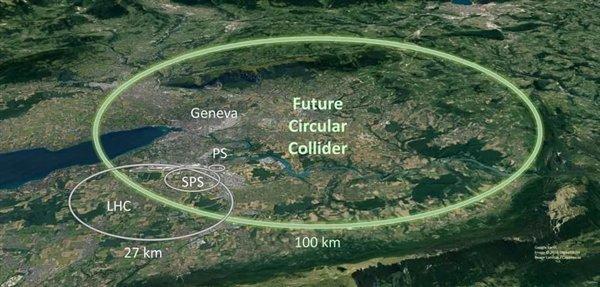 欧洲提出环形对撞机设想:造价240亿欧元、隧道长度是LHC 4倍
