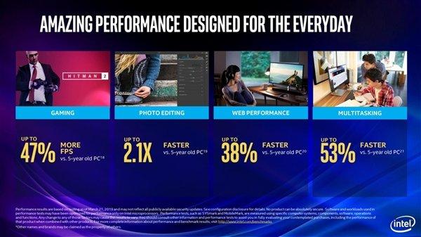 Intel发布9代酷睿笔记本标压处理器:8核5GHz达成、游戏帧数提升47%