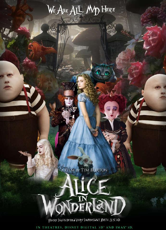爱丽丝梦游仙境 迪士尼动画 翻拍 真人电影