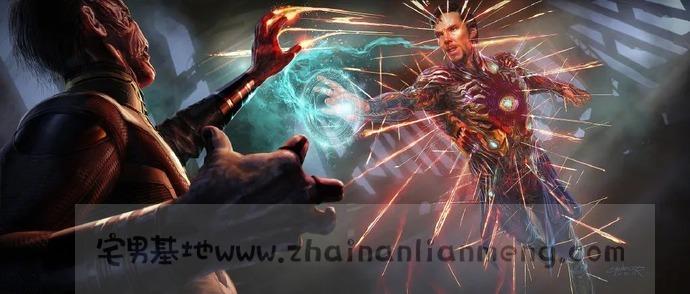 《复仇者联盟4》上映一周年,奇异博士穿上了钢铁侠的Mark50铠甲