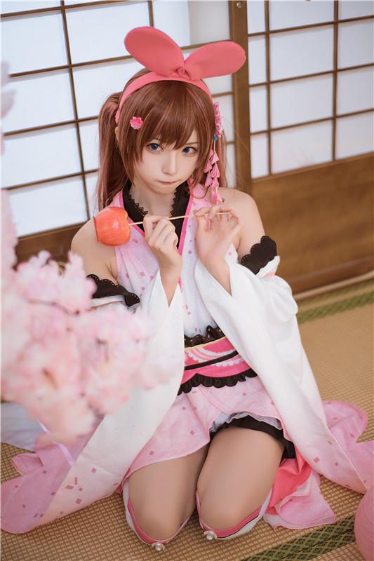 卡哇伊cosplay,小可爱的兔耳朵与樱花插图7