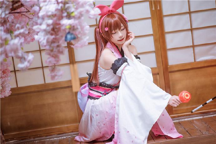 卡哇伊cosplay,小可爱的兔耳朵与樱花插图21