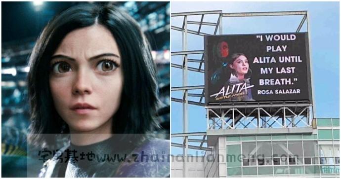 粉丝太疯狂,《阿丽塔:战斗天使》粉丝自己搭建电影宣传牌,期待续集快到来