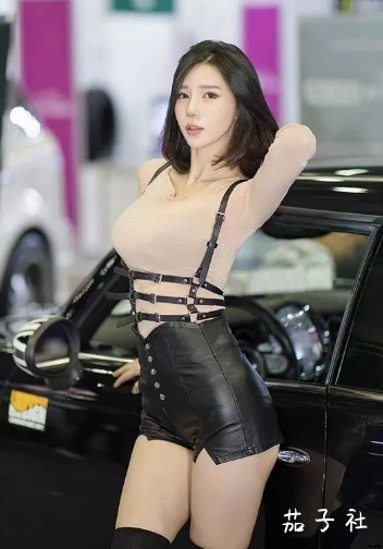 韩国车模闵汉娜 充满野性的小皮裤女神 宅男福利 第6张