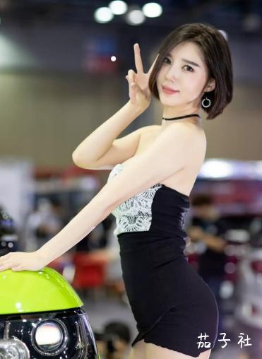 韩国车模闵汉娜 充满野性的小皮裤女神 宅男福利 第5张