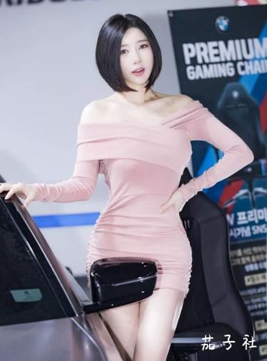 韩国车模闵汉娜 充满野性的小皮裤女神 宅男福利 第12张