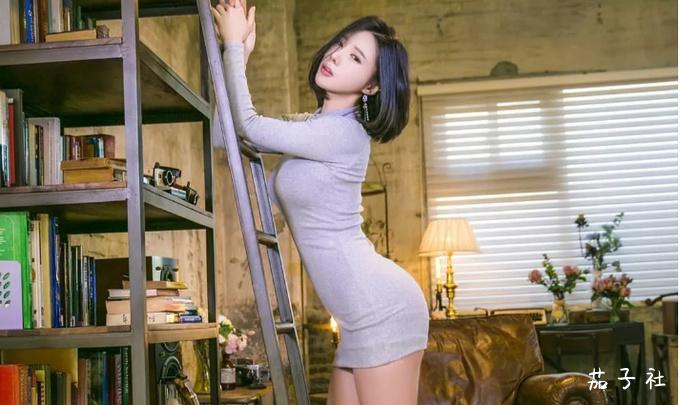 韩国车模闵汉娜 充满野性的小皮裤女神 宅男福利 第1张