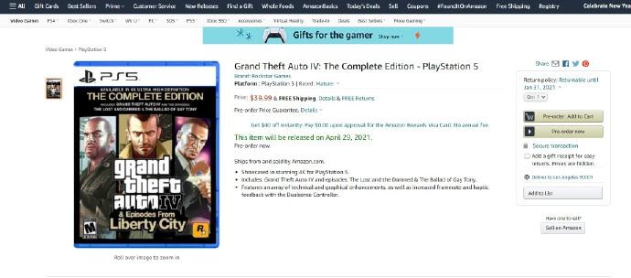 《侠盗猎车手6》还要再等等,PS5 先推出《侠盗猎车手4》完全版