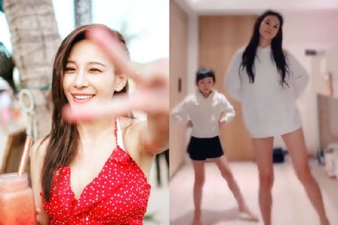 艾莉丝下衣失踪揪女儿跳舞41岁逆天美腿惊艳众人