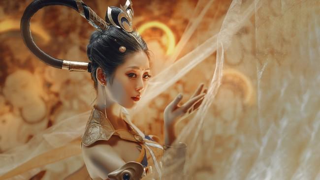 王者荣耀杨玉环飞天cosplay《遇见飞天》美女图片