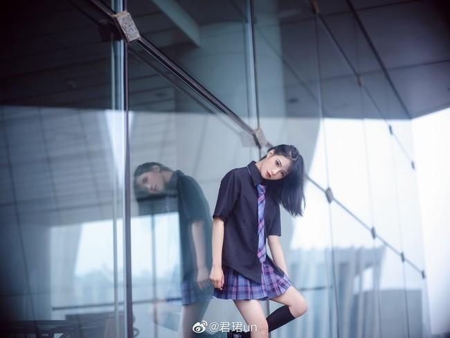 【cosplay】jk格裙电竞少女图片,日系电竞少女jk素材