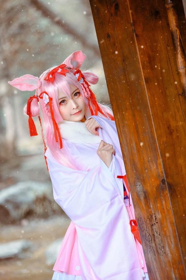【cosplay】碧蓝航线如月樟新年和服 约修亚高清图片