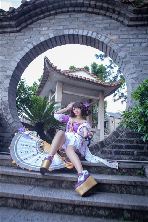 【cosplay】大眼萌妹小乔丁香结cos图片壁纸