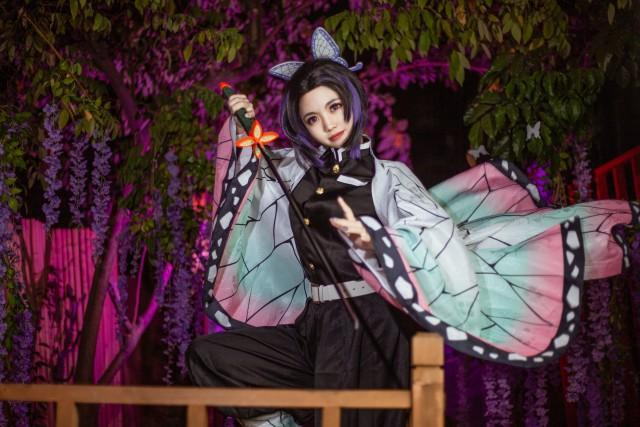 【cosplay】少女蝴蝶忍cos图片壁纸,高度还原