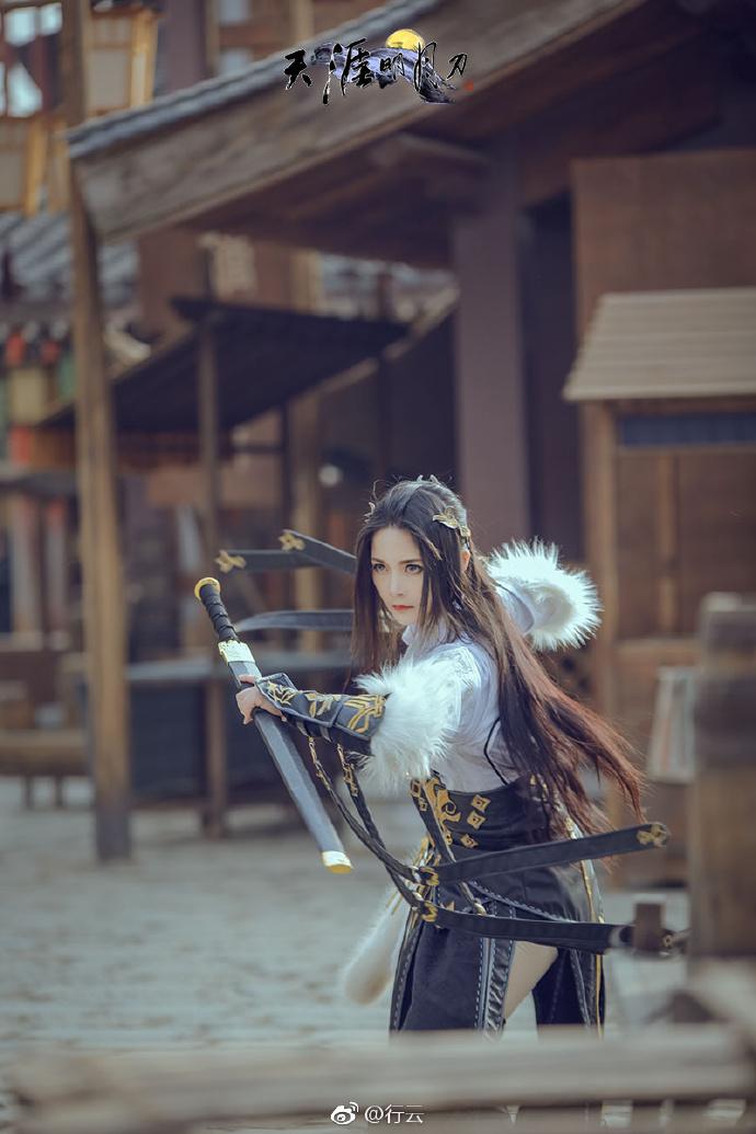 【cos正片】帅气迷人的正派角色《天涯明月刀》太白cosplay欣赏 cosplay-第3张