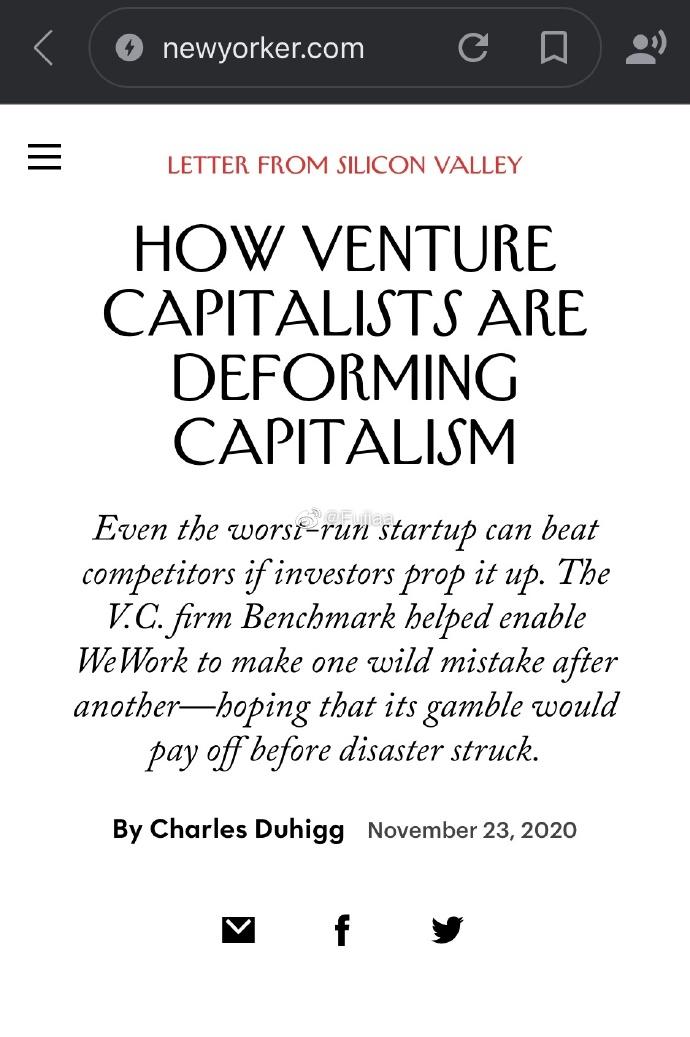 《纽约客》报道了共享办公初创公司wework的财富破灭故事
