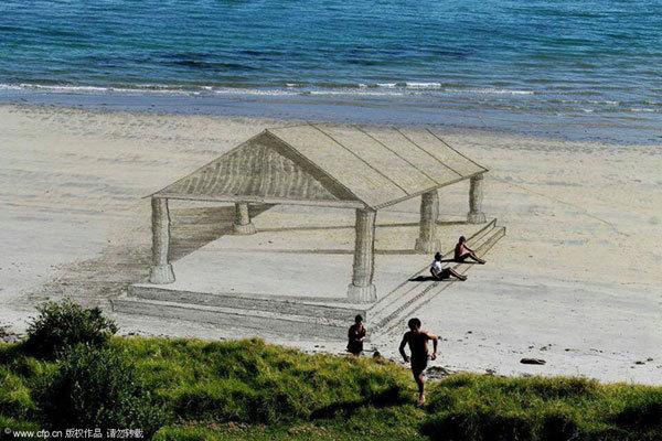 沙滩上纳凉的好去处