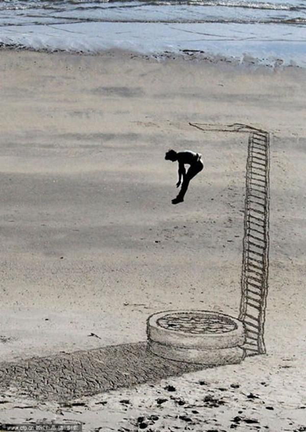 沙漠高台跳水!