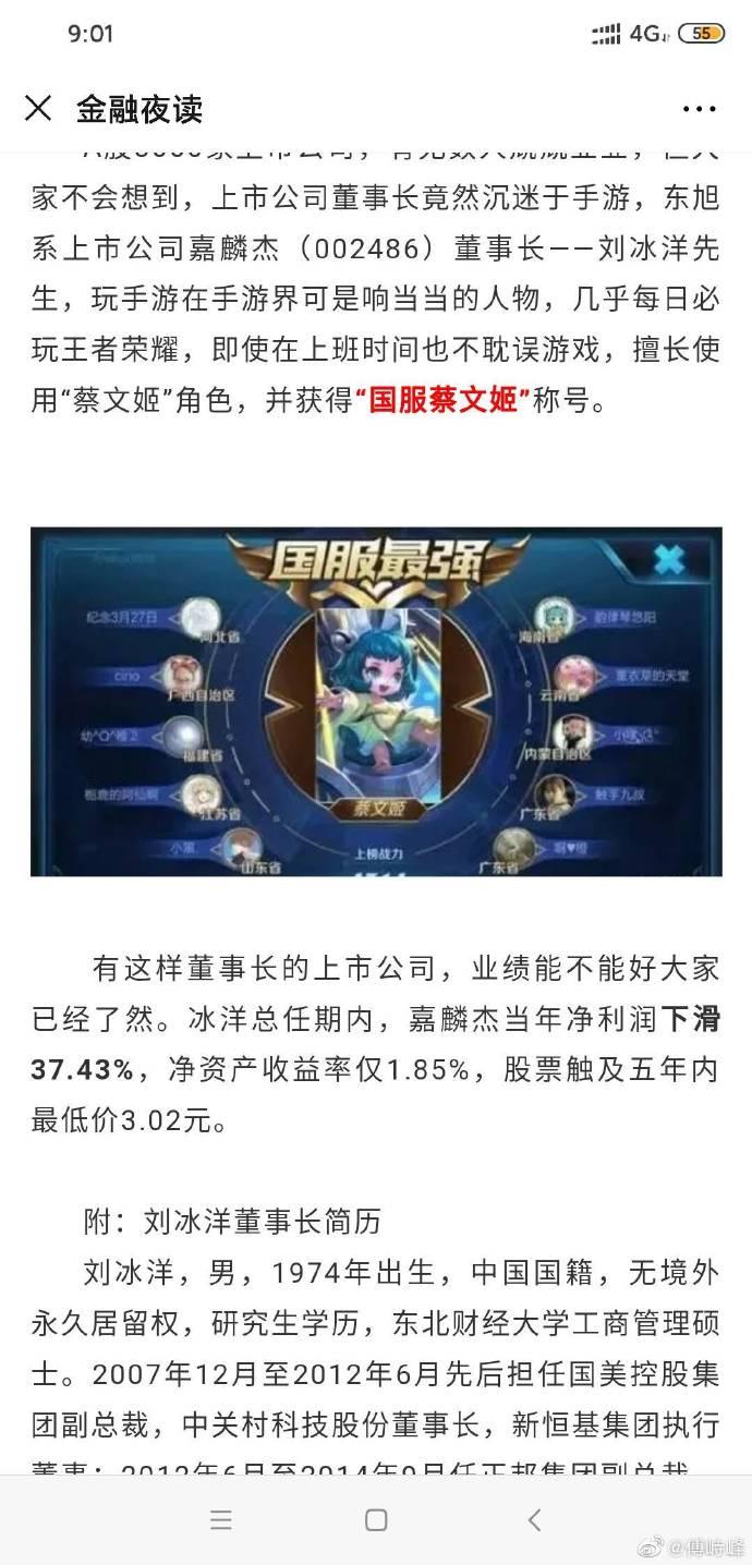 国服蔡文姬:上市公司董事长打游戏就是这么朴实无华 liuliushe.net六六社 第2张