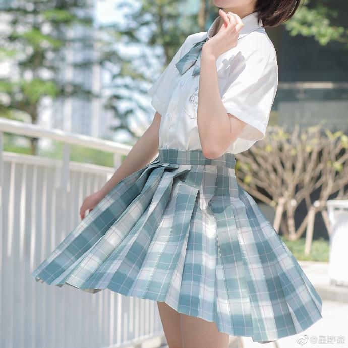 JK日常小格子裙