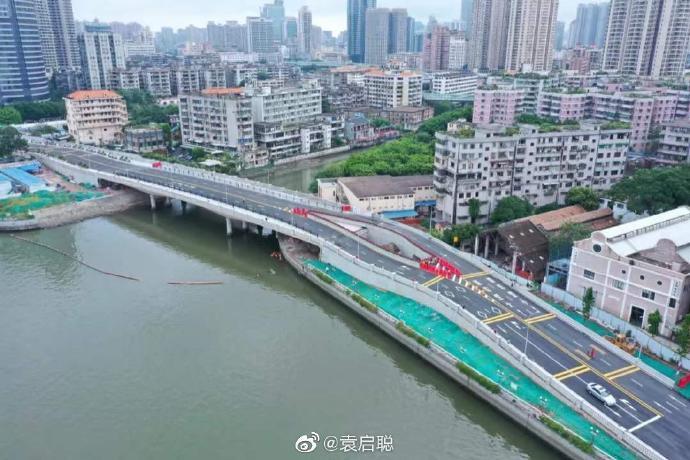 """广州开通了一条新桥,新桥中间,出现就一个神奇的""""裂开"""""""