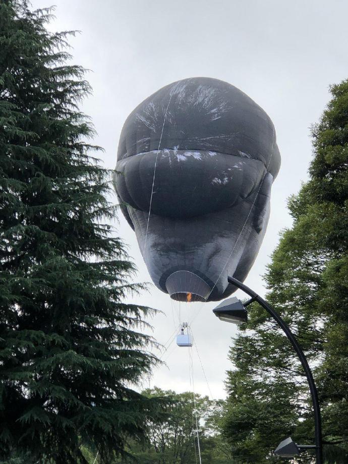 日本公园出现了一个巨大的人头造型热气球--『游乐宫』Youlegong.com 第3张