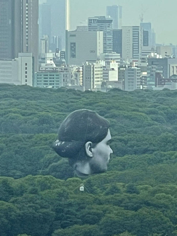 日本公园出现了一个巨大的人头造型热气球--『游乐宫』Youlegong.com 第6张