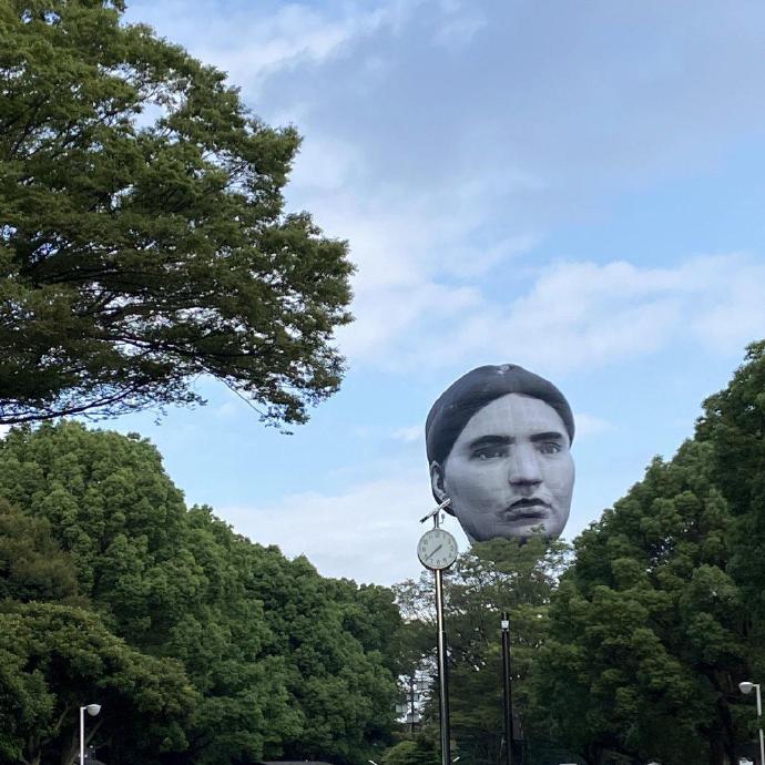 日本公园出现了一个巨大的人头造型热气球--『游乐宫』Youlegong.com 第7张