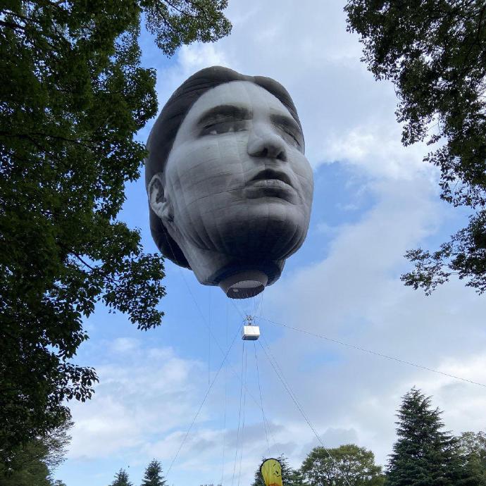 日本公园出现了一个巨大的人头造型热气球--『游乐宫』Youlegong.com 第9张