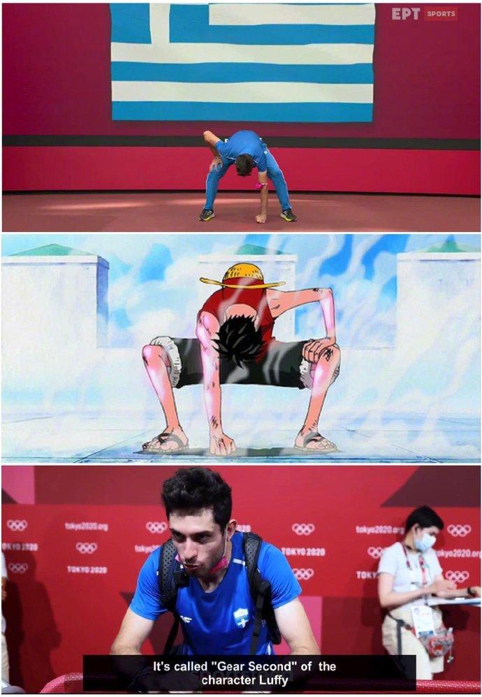 奥运结束后,网友们总结了一些赛场上的动画元素,老二次元了