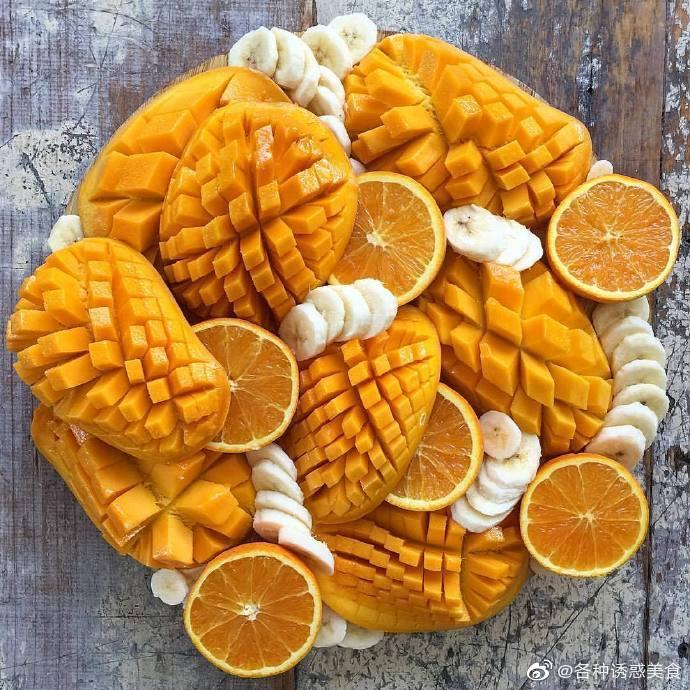 满屏的黄色芒果图片