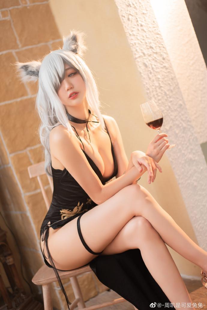 今日妹子图20200620 cosplay明日方舟 黑色浪漫 liuliushe.net六六社 第5张