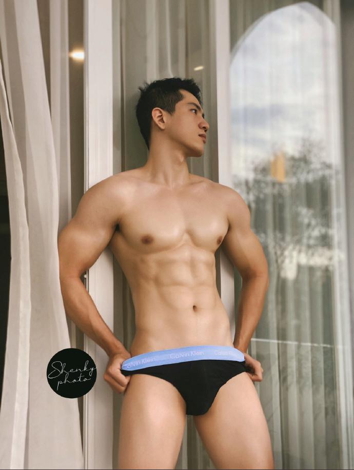 亚裔健身男模系列