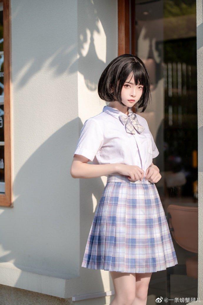 jk服种草姬 JK白衬衫格子裙小姐姐日常