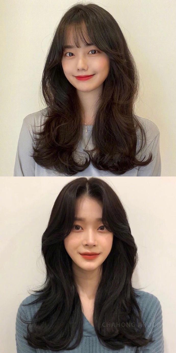 浪漫的韩系长卷发可以突显出女性的柔美气质