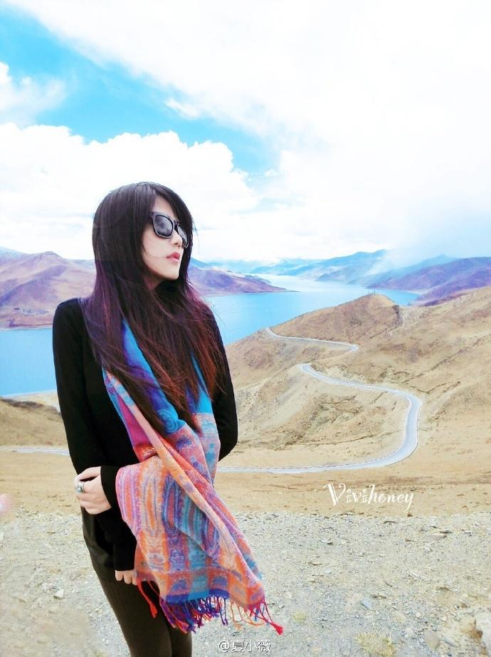 网络红人美女模特主持@夏小薇微博私房照