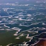 【地理】黄河大面积结冰美如画:冰层好似婉转丝带[6P]